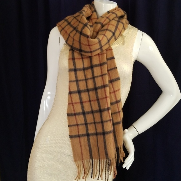 6c8f584a9 Brooks Brothers Accessories - BROOKS BROTHERS baby camel hair plaid scarf